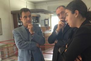 Insieme all'On. Ricciatti, i funzionari del Corpo VVF Ing. Francesco Re (a sinistra) e Ing. Wilson Sorcinelli (a destra)