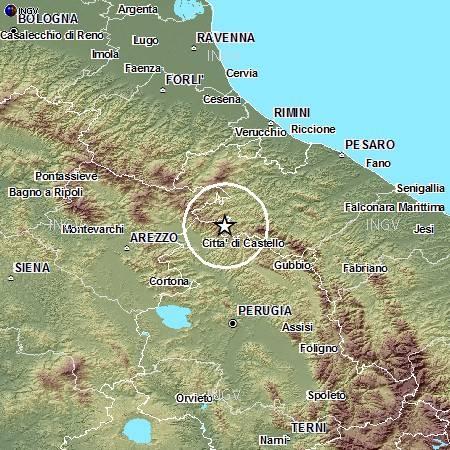 Terremoto in Umbria al confine con le Marche