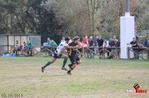 Marco Martinelli in azione (Pesaro rugby)