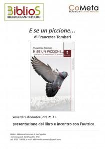 """Presentazione libro della Tombari """"E se un piccione"""""""
