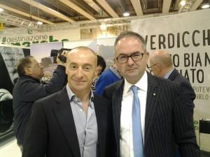 Giuseppe Cristini al Vinitaly con Juri Chechi