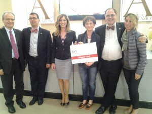 Paolo Massobrio e Marco Gatti con Paola Mezzaluna e Fabio Cecconi e Paola Sebastianelli della Regione Marche.