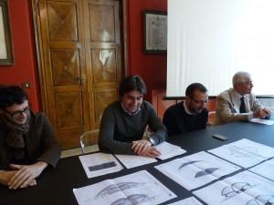 Altra immagine della conferenza sul progetto sul calore: al centro l'assessore Biancani e il sindaco Ricci