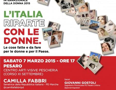 L'Italia riparte dalle donne