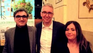 Sara Cucchiarini e Francesco Torriani, coordinatori comitato fanese, assieme a Luca Ceriscioli