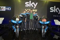 La squadra con Valentino Rossi