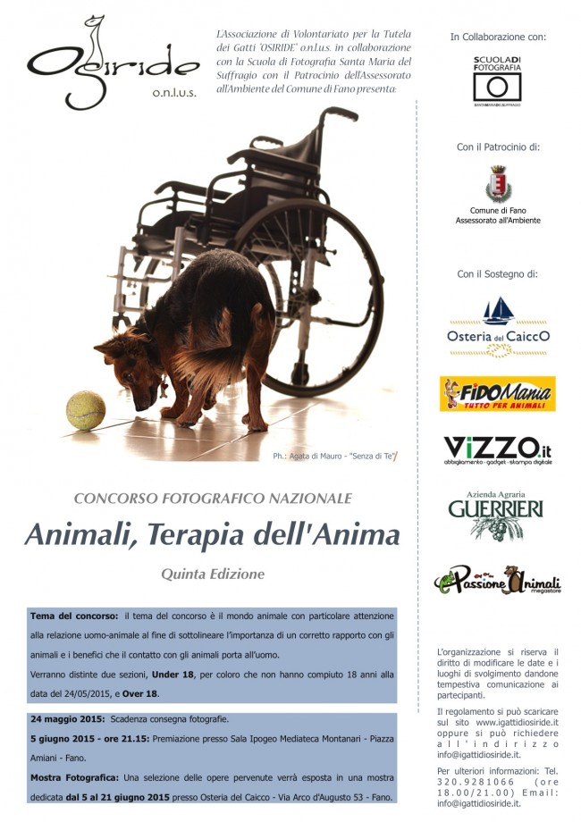 Animali, terapia dell'anima_Locandina2015