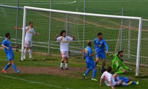 Azione di gioco tra Vismara e Atletico Alma