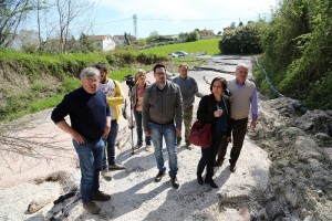 Tagliolini e i sindaci sopralluogo sulla Tavoletana