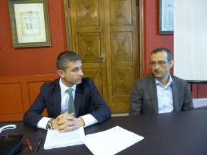 L'assessore al Bilancio Antonello Delle Noci con Matteo Ricci