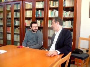L'assessore Rito Briglia col presidente del liceo scientifico Marconi Riccardo Rossini