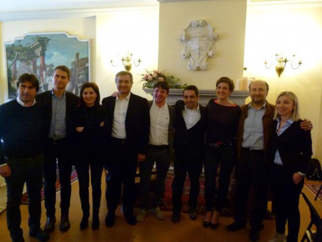 I candidati per la provincia di Pesaro e Urbino con il segretario provinciale Gostoli e il segretario regionale Comi