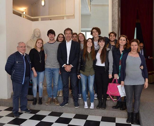 La premiazione del festival del giornalismo di Urbino (foto Luca Toni)