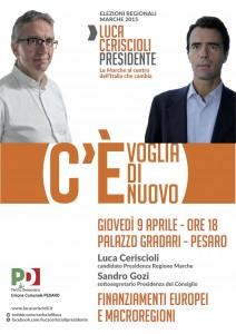 Il sottosegretario Sandro Gozi a Pesaro per Luca Ceriscioli