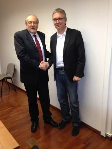 Luca Ceriscioli col presidente di Democrazia Solidale e capogruppo alla Camera per l'Italia Centro Democratico Lorenzo Dellai