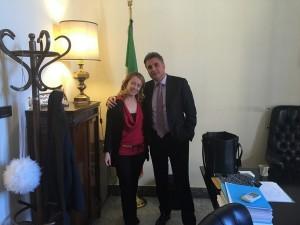 Giorgia Meloni con Antonio Baldelli