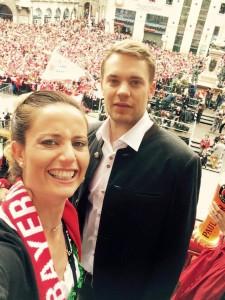 Manieri con il portierone Neuer