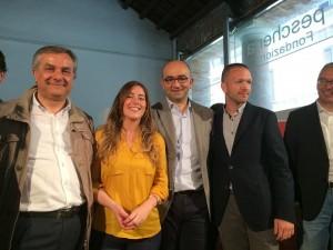 Minardi, il ministro Boschi e gli esponenti del Pd di Fano