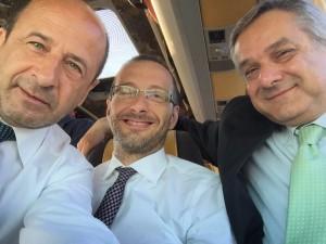 Il selfie: tutti in viaggio per Expo. Varotti, Ricci e Minardi