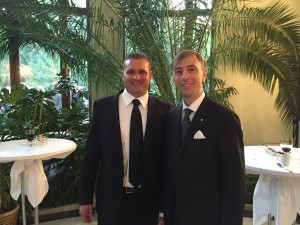 Il segretario della Cna di Pesaro e Urbino, Moreno Bordoni assieme all'Amabasciatore italiano a Minsk, Stefano Bianchi