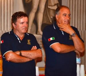 I Presidenti Marco Ferri e  Flavio Parlani