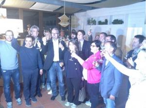 Luca Ceriscioli festeggia la vittoria elettorale
