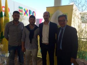 La delegazione di Cartoceto con il sindaco Rossi