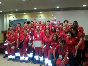 Foto di squadra della Croce Rossa di Fermignano