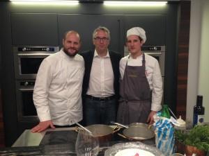 Ceriscioli on lo chef Errico Recanati, al convegno con Loccioni, al macrobiotico