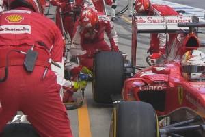 Pit stop Ferrari Austria