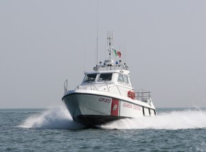 La motovedetta CP 872 della Guardia costiera