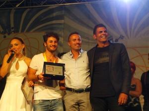 Castrocaro a Gabicce: Pietro Falco premiato dal Sindaco Domenico Pascuzzi e dal produttore discografico Sergio Cerruti