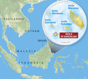 L'isola indonesiana di Sangalaki (foto da corriere.it)
