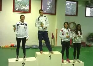 Il podio femminile ad Ancona