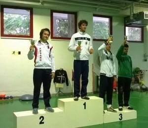 Il podio maschile ad Ancona