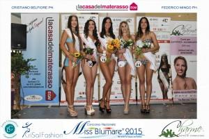 Le finaliste di Miss Blu Mare Marche 2015