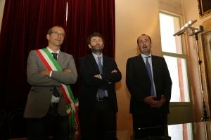 Dario Franceschini con Ricci e Vimini
