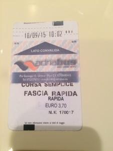 Un biglietto