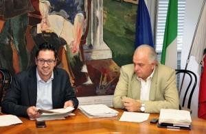 Daniele Tagliolini e Maurizio Gambini, presidente e vice della Provincia di Pesaro e Urbino