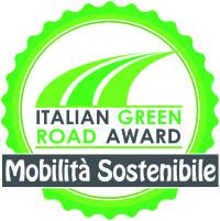 La coccarda Green Road Award mobilità sostenibile