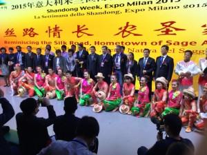Ceriscioli inaugura la settimana dello Shandong a Expo 2015