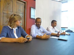 Da sinistra a destra l'assessore De Regis, il sindaco Ricci e l'assessore Delle Noci