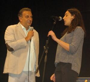 Antonio Rey Topi con la vincitrice Valentina Mazza di Orciano