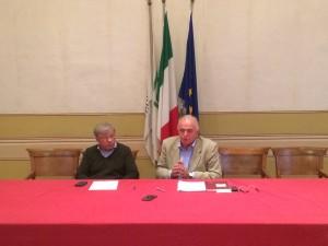 Maurizio Gambini e Nello Gresta, sindaci di Urbino e Tavoleto