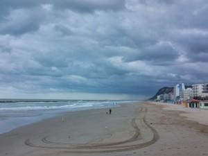 A dark November morning on Pesaro beach