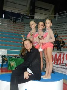 Le giovanissime atlete premiate della Gimnall