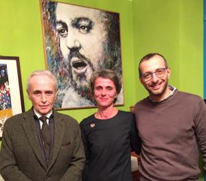 José Carreras, Cristina Pavarotti e Matteo Ricci