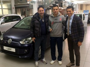 Da sinistra Lorenzo Pizza, Clayton Pedaleira e Juri Gabellini