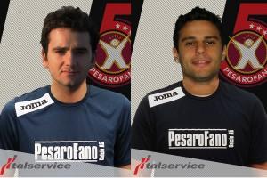 Da sinistra Rodrigo Da Silva e Clayton Pedaleira (Italservice PesaroFano)