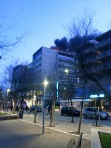 Hotel Cruiser in fiamme